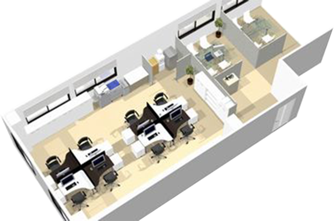 事務所新設 オフィスレイアウト