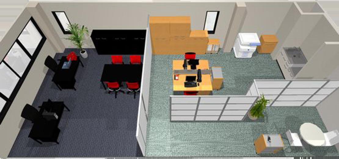 営業所新設 オフィスレイアウト