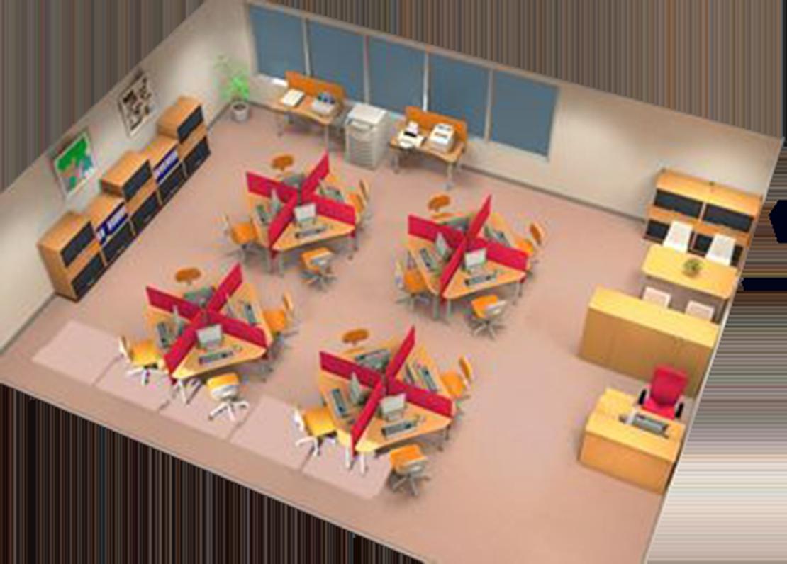 パソコン教室 オフィスレイアウト